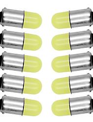 cheap -10Pcs BA9S T4W 363 1895 233 super bright Round 3D COB LED Pure White Car License Plate Light Bulb Auto Lamp marker light DC 12V