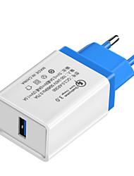 cheap -Fast Charger / Portable Charger USB Charger EU Plug QC 3.0 1 USB Port 3.5 A 100~240 V for Universal