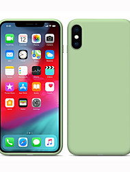 cheap -Silicone Case For Apple iPhone 11 Liquid Silicone Full Body Protection iPhone 11 Pro Shockproof Cover Solid Multicolord Silica Gel iPhone 7/iPhone X/iPhone 8