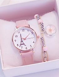 cheap -Women's Quartz Watches Analog Quartz Fashion Chronograph Cute Adorable / One Year / PU Leather