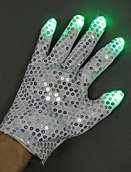 cheap -LED Lighting LED Gloves Finger Lights Sports Hand Dancing Cotton / Polyester Paillette Adults' All Toy Gift 2 pcs