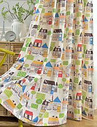 Недорогие -конфиденциальность две панели мультфильм занавес для детей детская комната постельное белье экологически чистых печатных