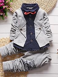 cheap -Baby Boys' Basic Red Polka Dot / Print Print Long Sleeve Long Long Clothing Set Red