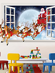 cheap -Christmas Decorative Wall Stickers - Animal Wall Stickers / Holiday Wall Stickers Christmas Decorations / Holiday Living Room / Bedroom / Kitchen
