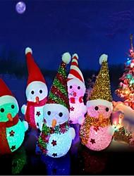 Недорогие -Рождество светодиодные светящиеся висячие снеговик кулон елочные украшения случайный цвет