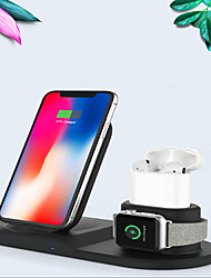 abordables -Chargeur sans fil multifonction 3 en 1 pour airpods / iphone 11/11 pro / xr / xs / 8/8 plus et apple watch series