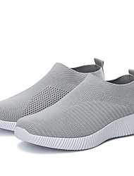 cheap -Women's Athletic Shoes Flat Heel Round Toe Elastic Fabric / Tissage Volant Sporty / Sweet Running Shoes / Walking Shoes Spring & Summer / Fall & Winter Black / Light Grey / Light Blue