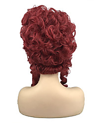 cheap -Synthetic Wig Queen Marie Antoinette Curly Vintage Victorian Middle Part Wig Medium Length Red Synthetic Hair 8 inch Women's Party Synthetic Red
