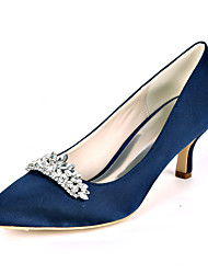 cheap -Women's Wedding Shoes Stiletto Heel Pointed Toe Rhinestone Satin Sweet Fall / Spring & Summer Black / White / Purple / Party & Evening