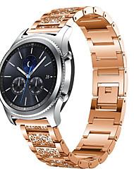 Недорогие -22мм браслет из нержавеющей стали с бриллиантами из нержавеющей стали для часов Samsung Galaxy 463 s3 classic band