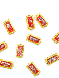 cheap -10pcs/pack 3D Geometric Shape Nail Decoration DIY Magic Mirror Artificial Amber Nail Accessories