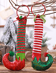 cheap -Hanging Elf Boots Christmas Decoration For Christmas Ornaments For Home