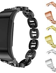 Недорогие -ремешок для часов для Fitbit заряда 2 FitBit дизайн ювелирных изделий из нержавеющей стали ремешок на запястье