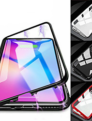cheap -Luxury Magnetic Adsorption Phone Case For iPhone 11 Pro Max XR XS Max X 8 Plus 7 Plus 6 Plus Metal Magnet Tempered Glass Flip Cover