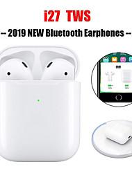 cheap -I27 TWS Blutooth Mini Wireless Headphones V5.0 Binaural Earbuds with Charging Base Sports Headphones