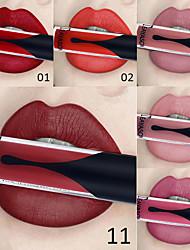 abordables -12 couleurs sexy brillant à lèvres longue durée imperméable velours mat rouge à lèvres liquide filles filles maquillage cosmétique