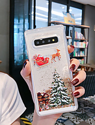 cheap -Case For Samsung Galaxy S9 / S9 Plus / S8 Plus Flowing Liquid / Pattern / Glitter Shine Back Cover Tree / Christmas TPU