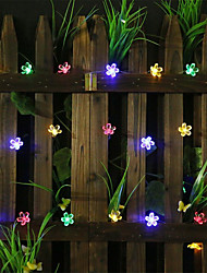 cheap -20m Romantic Sakura String Lights 160 LEDs  Warm White White Blue Halloween Christmas Party Fantasy Fairy Tale World Decorative Wedding  Garden Courtyard Decoration Lamp AA Batteries Powered 1 set
