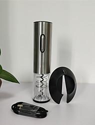 abordables -1pc en plastique& tire-bouchon ouvre-bouteille métallique en acier inoxydable abs + pc& ouvre-porte normal facile à utiliser accessoires de vin pour barware
