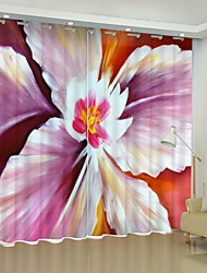 cheap -Oil Painting Flower Digital Printing 3D Curtain Shading Curtain High Precision Black Silk Fabric High Quality Curtain