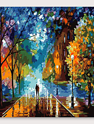 cheap -IARTS®Hand Painted Lover Road Oil Painting   with Stretched Frame For Home Decoration