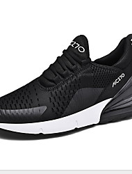 cheap -Men's Comfort Shoes Cowhide Winter Athletic Shoes Running Shoes Black / Red