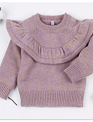 cheap -Toddler Girls' Basic Solid Colored Long Sleeve Sweater & Cardigan Purple