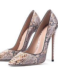 cheap -Women's Heels Stiletto Heel Pointed Toe PU Spring &  Fall Light Brown