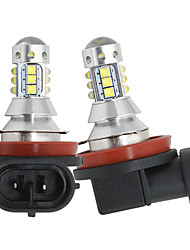 cheap -2pcs/lot Car H8 H11 led 16SMD LED with cree chips Fog Lamp 80W 16LED Tail Lights DRL fog Light Bulb 12-24v