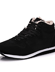 cheap -Women's Athletic Shoes Flat Heel Round Toe Suede Running Shoes Fall & Winter Black / Blue