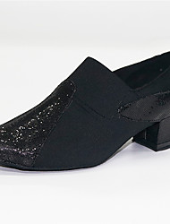 cheap -Women's Modern Shoes / Ballroom Shoes Synthetics Loafer Heel Thick Heel Customizable Dance Shoes Black / Performance / Practice