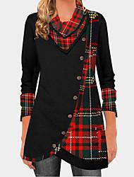 cheap -Women's Daily T-shirt - Geometric Print Black
