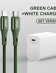 cheap -Joyroom Lightning / Type-C Cable 1.5m(5Ft) Quick Charge Aluminum / Nylon USB Cable Adapter For Samsung / Huawei / Nokia