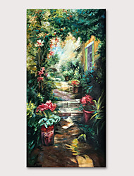 cheap -Oil Painting Hand Painted - Famous Landscape Classic Traditional Rolled Canvas