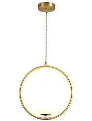cheap -1-Light CXYlight 30 cm Pendant Light Copper Glass Circle Modern / Nordic Style 220-240V