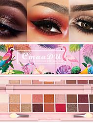 Недорогие -cmaadu 18 цветов палитра для макияжа глаз матовый блеск прочный натуральный модный косметика для теней с кисточкой