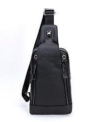 cheap -(BULLCAPTAIN) Men's Leather Chest Bag / First Layer Leather Music Front Backpack / Sports Casual One Shoulder Men's Bag