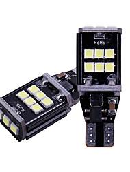 Недорогие -2 шт. / Лот t15 w16w 921 912 резервные фонари 3030 светодиодные 15 smd резервная лампа автомобиля задний фонарь canbus 12 В нет ошибки obc 6500 К белый
