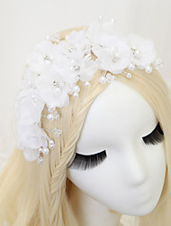 cheap -Crystal / Rhinestone / Fabrics Headdress with Imitation Pearl / Crystal / Rhinestone / Flower 1 Piece Wedding Headpiece
