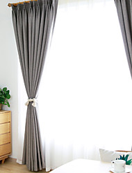 cheap -Curtain High Blackout Solid Color Cotton Home Bedroom Customisable