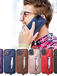 Недорогие -чехол для apple iphone 11 / iphone 11 pro / iphone 11 pro max кошелек / визитница / с подставкой задняя крышка из натуральной искусственной кожи
