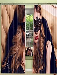 cheap -Masked Queen Digital Printing 3D Curtain Shading Curtain High Precision Black Silk Fabric High Quality Curtain
