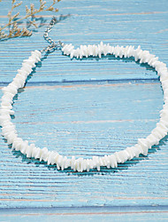 cheap -Women's Necklace Classic Shell Rustic Natural Vintage Trendy Chrome Shell White 45 cm Necklace Jewelry 1pc For Daily Holiday Street Festival