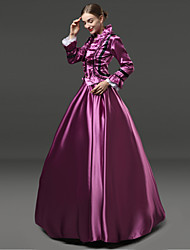 cheap -Rococo Victorian 18th Century Dress Party Costume Masquerade Women's Lace Satin Costume Purple Vintage Cosplay Party Prom Long Sleeve Floor Length Ball Gown Plus Size Customized