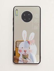 Недорогие -Кейс для Назначение Huawei Huawei Nova 4 / Huawei nova 4e / Huawei P20 Защита от удара / Зеркальная поверхность / Ультратонкий Кейс на заднюю панель Слова / выражения / Мультипликация ТПУ