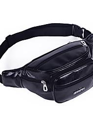 Недорогие -Универсальные Молнии PU Поясная сумка Сплошной цвет Черный / Светло-кофейный / Кофейный