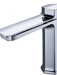 cheap -Bathroom Sink Faucet - Widespread Electroplated Free Standing Single Handle One HoleBath Taps