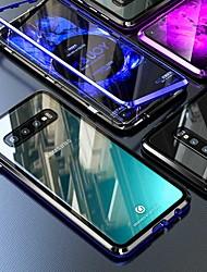 abordables -coque magnétique pour samsung galaxy note 10 plus / s10 plus / a9 (2018) coque 360 double face en verre trempé métal téléphone fonds couvrir étuis aimant pour samsung s9 plus / s8 plus / a50 / a10 /