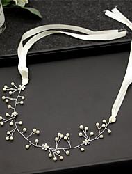 cheap -Alloy Headbands / Hair Accessory with Pearls / Crystal / Rhinestone / Flower 1 Piece Wedding Headpiece