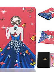 cheap -Case For Apple iPad Air / iPad (2018) / iPad New Air(2019) Card Holder / with Stand / Pattern Full Body Cases Sexy Lady PU Leather